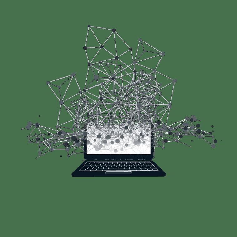 ordinateur avec hologramme